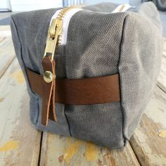 This durable waxed canvas dopp kit is large enough for holding lots of travel necessities. Handmade with heavy duty hand-waxed cotton canvas. Waxed Canvas, Cotton Canvas, Travel Necessities, Dopp Kit, Natural Lifestyle, Craft Bags, Tan Leather, Brass, Shape