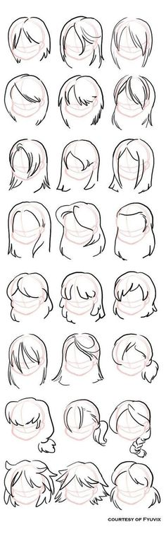 Hairstyles- straight by =fyuvix: design reference, drawing reference, hair reference, Drawing Lessons, Drawing Techniques, Drawing Tutorials, Drawing Tips, Art Tutorials, Drawing Ideas, Drawing Poses, Drawing Projects, Sketch Ideas
