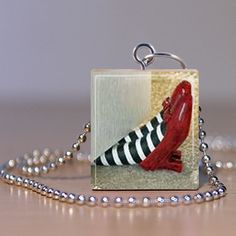 Scrabble Jewelry  Necklace  Ruby Red Slippers by MaDGreenCreations, $7.49