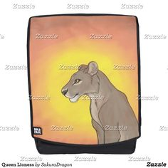 Queen Lioness Backpack #lioness #lion #animals #endangered #africa