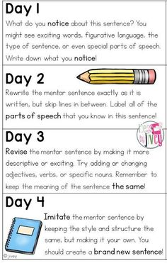 Here is the beginning of the Mastering Mentor Sentences Series with Collaboration Cuties ! I told you about the book Dandelions last w. Mentor Sentences, Sentence Writing, Mentor Texts, Writing Sentences, Narrative Writing, Informational Writing, Teaching Grammar, Teaching Writing, Teaching Ideas