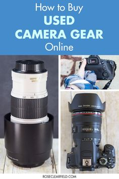 Tips for saving money while still purchasing high-quality DSLR and mirrorless camera equipment! Used Camera Gear, Used Cameras, Canon Cameras, Canon Lens, Photography Basics, Photography Tips For Beginners, Photography Tutorials, Portrait Photography, Wedding Photography