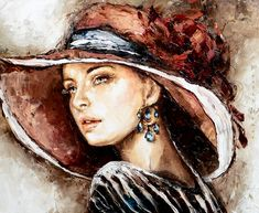 Artist Elzbieta Brozek - Polish Painter - Art And Beauty Cross Paintings, Your Paintings, Landscape Paintings, Simple Oil Painting, Dot Painting, Figure Painting, Look Girl, French Beauty, Mosaic Crafts