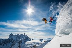Jumping Legends with Candide Thovex & Guerlain Chicherit by Tristan Shu, via Flickr