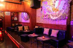 E-Villa Hookah Bar & Lounge! Check out some of the wicked artwork.
