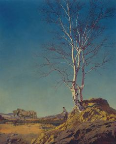 Art History News: Maxfield Parrish at Auction - White Birch