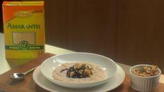 blueberry amaranth breakfast pudding