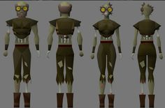 Preview  zombie gravedigger player kit used in  OSRS Halloween event. #OSRSHALLOWEEN  #RS2007GOLD   #RSorderSite