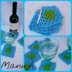Crocheted Coasters - another little work finished :-)