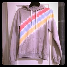 American apparel tye dye sweatshirt size small Rainbow American apparel sweatshirt. Hoodie. Size small. Excellent condition. Worn a few times. American Apparel Tops Sweatshirts & Hoodies