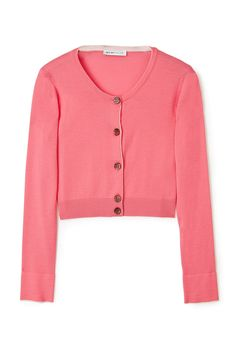 SEE BY CHLOÉ---  BICOLOUR CROPPED CARDIGAN
