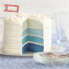 Blue Ombre #Cake from Pillsbury® Baking