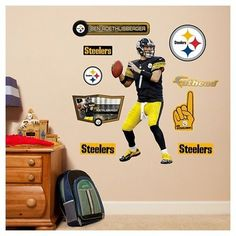 NFL Pittsburgh Steelers Ben Roethlisberger Fathead Wall Decal Set