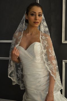 Wedding Veils on Pinterest | Wedding Veils, Beaded Embroidery and Lace ...