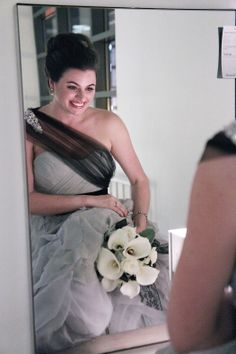 Blast from the past (well, 2012): Rachel looks exactly like a John Singer Sargent painting in her Mignonette Bridal gown.