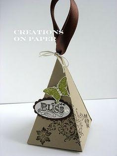 Creations on Paper: Petal Cone Box - Wedding
