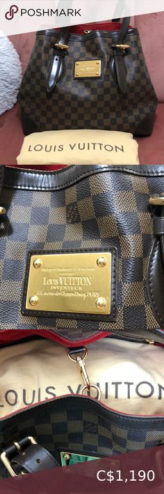 LV Hampstead MM Damier Ebene 🤍MM: x H x D 🤍 Strap drop 🤍 Damier ebene canvas 🤍 Dustbag included 🤍 Authenticity code: Condition: used — minor scratch on plate and small stain inside Louis Vuitton Bags Shoulder Bags My Other Bag, New Bag, Louis Vuitton Speedy Bag, Dust Bag, Shoulder Bags, Plate, Fashion Tips, Fashion Trends, Things To Sell