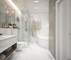 Minimalistische Badezimmer Design Ideen, Die Mit Einfachen Und Modernen  Interieur Ideen Kombinieren | Badezimmer Designs | Pinterest
