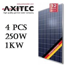 Solar Panel Charger PV Axitec (4) 250W Watt 1000W Poly Power System Off/On Grid