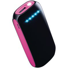 Merkury 4000mah Reactivate+ 2-tone Power Bank (black And Pink)
