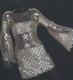 Paco Rabanne 1960s Space-Age metal dress