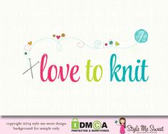 love to knit premade logo design