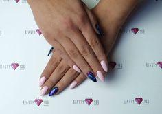 Lakiery hybrydowe SPN UV LaQ 503 Balck Tulip, 627 Call me baby + folia transferowa.  Nails by Dorota Karlik, Beauty 4 you.