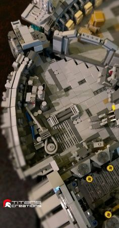 Pin for Later: You Need to See This Amazing Lego Millennium Falcon Close Up Tiny pieces everywhere Millennium Falcon, Legoland Malaysia, Star Wars Origami, Lego Clones, Lego Army, Lego Ship, Lego Spaceship, Lego Design, Lego Architecture
