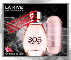Perfume DESCONTINUADO, 305 Femme La Rive Eau de Parfum #perfumeaovento #perfume #parfum #fragrancia #fragrance #lariveeaudeparfum #perfumedescontinuado #perfume305larive #perfumarialarive #contratipodo212sexy Visite o blog Perfume ao Vento. Perfume 212, Perfume Oils, Perfume Parfum, Perfume Bottles, La Rive, Water Bottle, Drinks, Blog, Luxury
