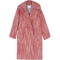 Stella Jean Coat ($1,085) ❤ liked on Polyvore featuring outerwear, coats, red, print coat, red coat and long sleeve coat