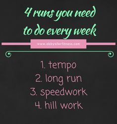 4 runs week
