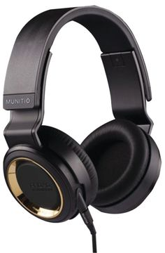 Munitio Pro40 Headphones With 3-Button Microphone (Gold) #accessories #mens #over-ear