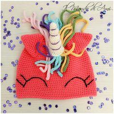 Berretto versione corallo #unicorno #unicorn #rainbow #arcobaleno #amigurumi #handmade #crochet #fattoamano #uncinetto #ganchillo #berretto #hat