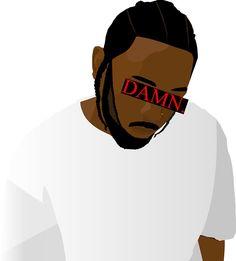 Kendrick Lamar Damn TDE Kendrick Lamar Album Cover, Kendrick Lamar Art, Small Canvas Paintings, Mini Canvas Art, Cool Drawings Tumblr, Art Drawings, Kendrick Lamar Girlfriend, Good Kid Maad City, Kung Fu Kenny