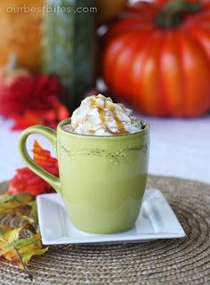 This caramel apple cider is perfect for a crisp fall day, and the recipe is a cinch! #applecider @ourbestbites