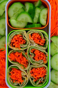 Vegetarian Hummus and Carrot Wrap. Back To School Lunchbox Ideas. Healthy, Quick and Easy. Perfect for a lunchbox, bento box or picnic. Great for grown ups too!