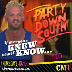 Daddy's ready for show time, are you? Season premiere of #PartyDownSouth coming your way at 10/9c!