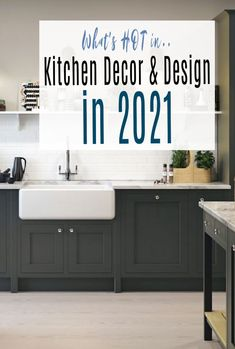 A look at whats  hot in kitchen design and kitchen decor in 2021 - everyone loves a beautiful kitchen don't they? It is after all the heart of a home  so take a look at these kitchen trends and perhaps consider a kitchen makeover in your home. #kitchentrends2021 #kitchentrends #kitchendecor #kitchen  #abeautifulspace Updated Kitchen, New Kitchen, Kitchen Decor, Kitchen Ideas, Kitchen Cabinet Colors, Kitchen Colors, Kitchen Design, Beautiful Kitchens, Cool Kitchens