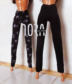 Two jersey Barbie leggings in set by NoraDollFashion