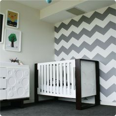 removable wallpaper - chevron....I like the idea of a removable wallpaper over paint hassles for my other guest room!
