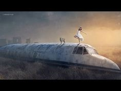 Making The Lost Plane Manipulation Scene Effect In Photoshop - YouTube