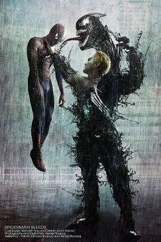 Spiderman vs Venom by Lilaeroplane Venom Comics, Marvel Venom, Marvel Vs, Marvel Dc Comics, Marvel Heroes, Marvel Comic Character, Comic Book Characters, Marvel Characters, Spiderman Kunst