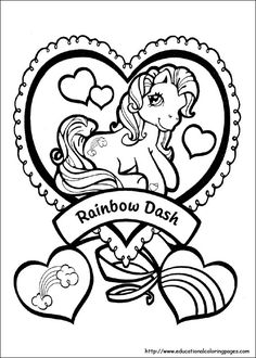 my little pony g1 coloring pages Google Search Tattoos