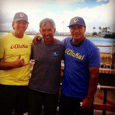 #tbt with Nainoa Thompson #hokulea and Archie Kalepa @peahi20ft at Sand Island #honolulu #hawaii May 2013 before Hōkūlea began her worldwide voyage. Imua Hōkūlea! In memory of #eddieaikau
