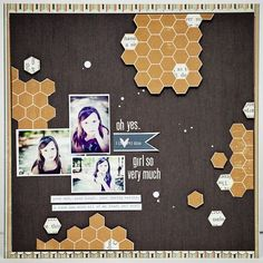 Layout by Jaime Warren, guest designer using Lily Bee Autumn Spice collection  #scrapbook #lilybee