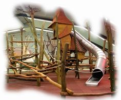 This Unique And Imaginative Indoor Playground Was Designed And Build By Our  Creative Wood Design Company. #Robinie #Robinienholz #Spielanlage # Spielplatz ...