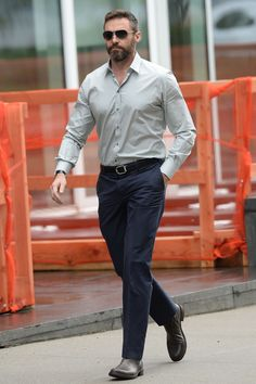 Hugh Jackman looking cool in his shades