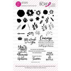 Ellen Hutson, LLC features Essentials by Ellen Stamp & Die Set, Courage (Fundraiser for Breast Caner Research Foundation).