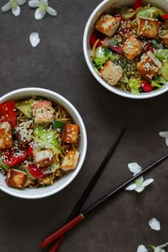 Quorn, Halloumi, Kung Pao Chicken, Tofu, Ethnic Recipes, Red Peppers
