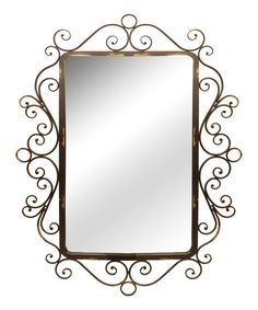 Dress up bathroom décor or entryways with this elegant wall mirror. Its curling frame adds an element of whimsy and class, making it a wonderful addition to the home.